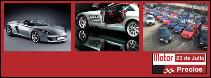 Precios revista motor carros y motos 25 de Julio de 2012