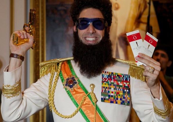 Protagonista de la película el Dictador