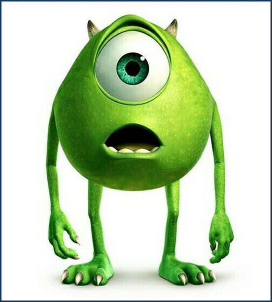 monsters inc Mike Wazowski