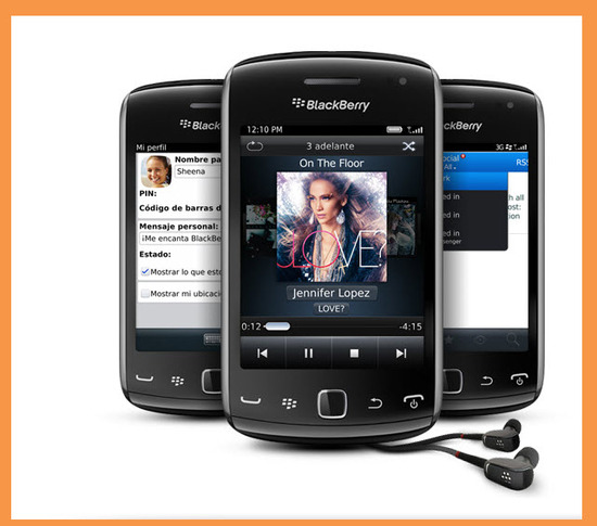 Blackberry Curve 9380, redes sociales