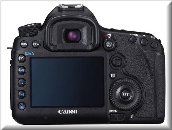 Canon EOS 5D Mark III, atrás