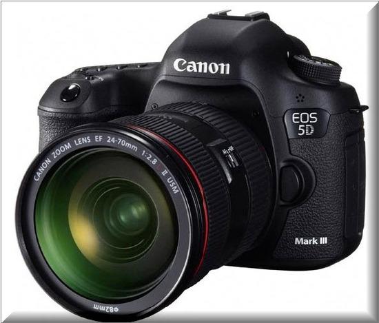 Canon EOS 5D Mark III, frente