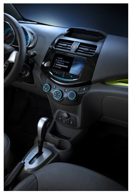 Chevrolet Spark 2013, consola