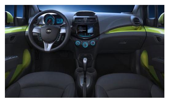 Chevrolet Spark 2013, diseño interior