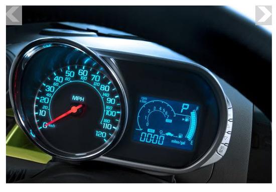 Chevrolet Spark 2013, tablero de instrumentos
