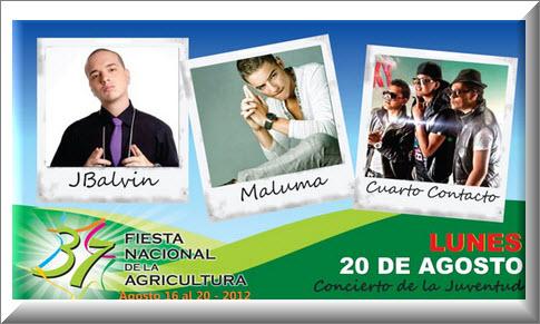 Concierto de la Juventud, Feria de la Agricultura 2012