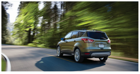 Ford Escape 2013 Colombia, diseño exterior