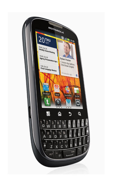 Motorola PRO + ,vista angulo