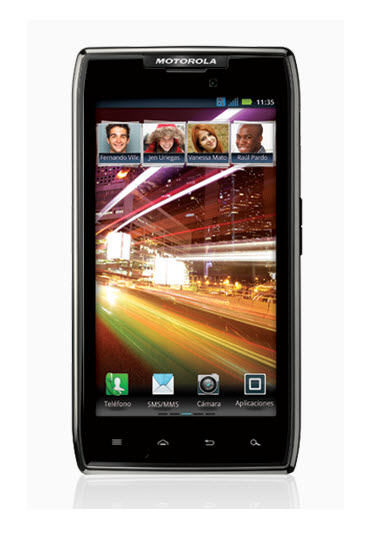 Motorola RAZR MAXX, frente