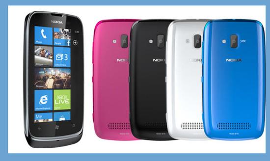 Nokia Lumia 610, colores
