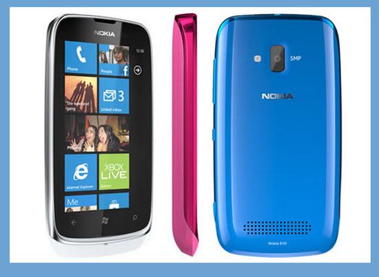 Nokia Lumia 610, diseño exterior