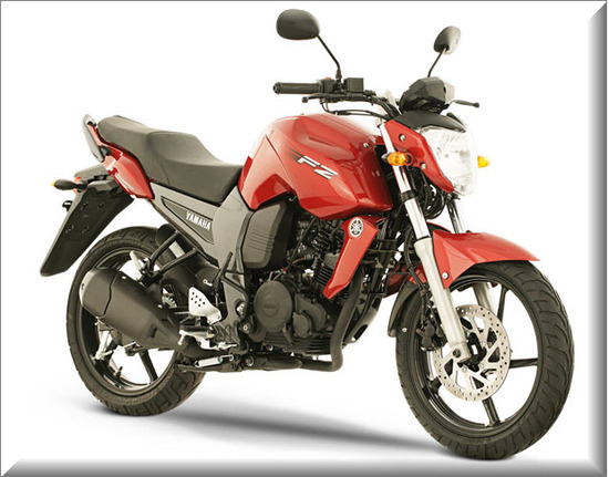 Nueva Yamaha FZ16, color rojo