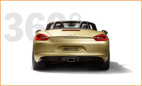 Porsche Boxster, vista parte trasera