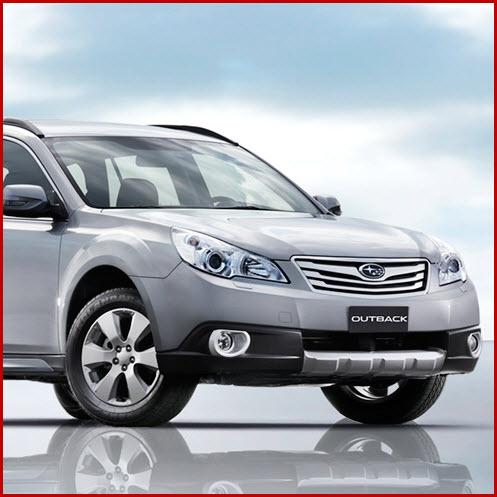 Subaru Outback, vista parte delantera