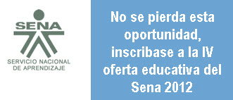 Oferta Educativa Sena 2012