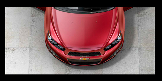 Chevrolet Sonic Hatchback 2013, parte frontal