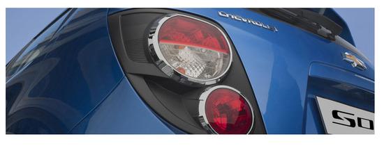 Chevrolet Sonic Hatchback 2013, parte trasera