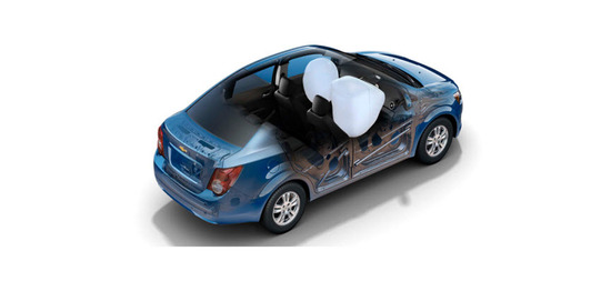 Chevrolet Sonic Sedán 2013, airbags