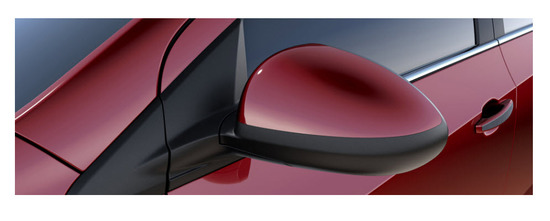 Chevrolet Sonic Sedan 2013, espejo retrovisor