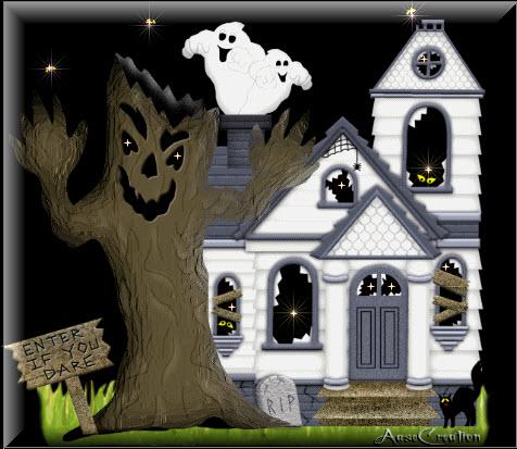 Postales de Halloween ,Cementerios