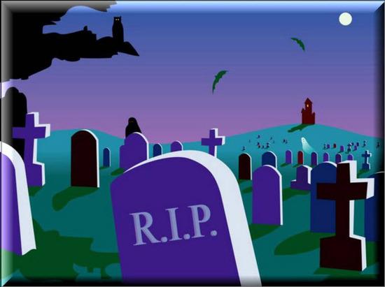 Postales de Halloween, Cementerios