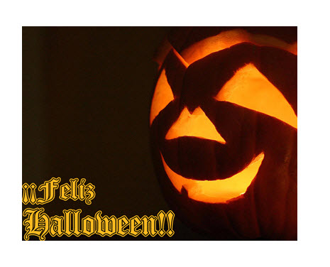 Postales de Halloween, calabazas