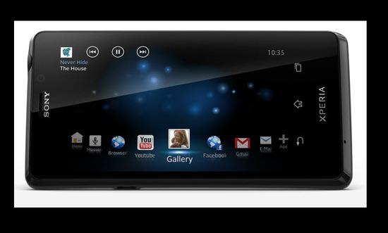 Sony Xperia T, parte exterior