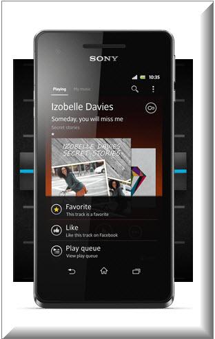 Sony Xperia V pantalla HD, música y sonido