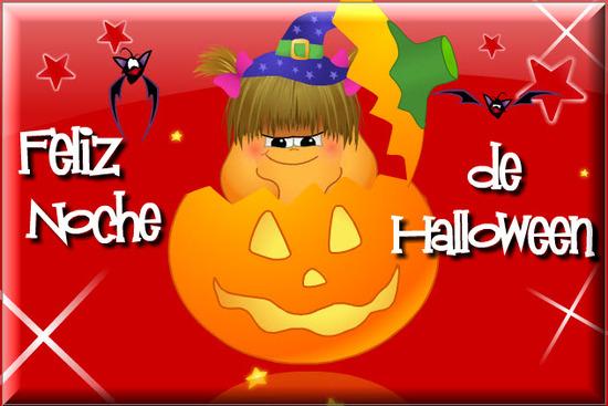 Tarjetas de Halloween, calabaza