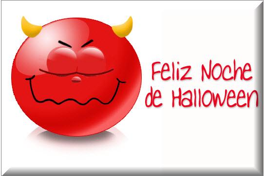 Tarjetas y postales de Halloween, diablito