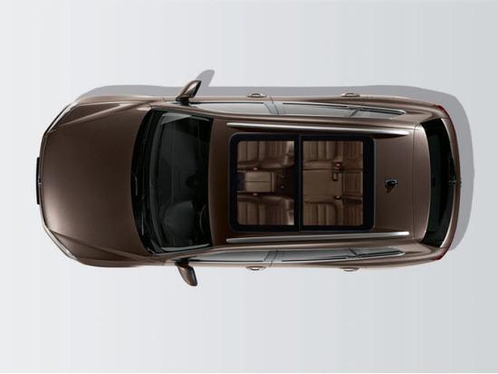 Volkswagen Taureg, vista parte de arriba