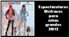 Disfraces para niñas grandes, 2012