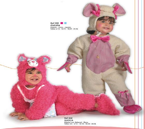 lindos disfraces para bebes de ovejita y gatica