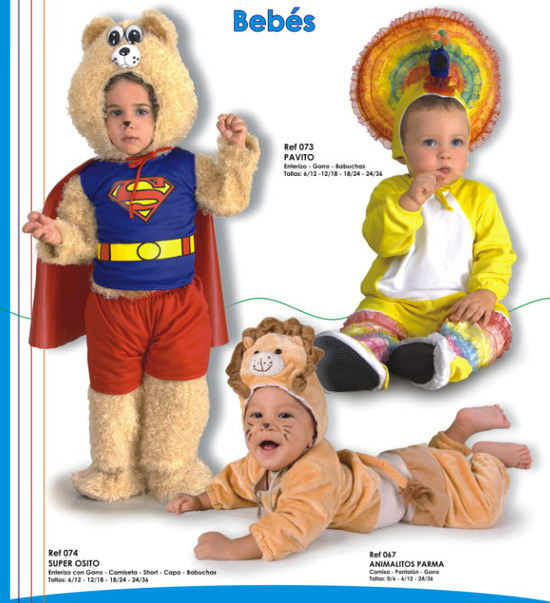 lindos disfraces de peluches para bebes parmalat