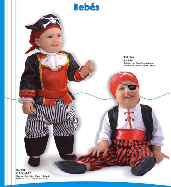 lindos disfraces para bebes de piratas