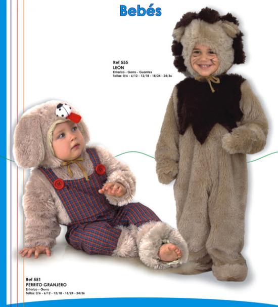 lindos disfraces para bebes leoncito y perrito