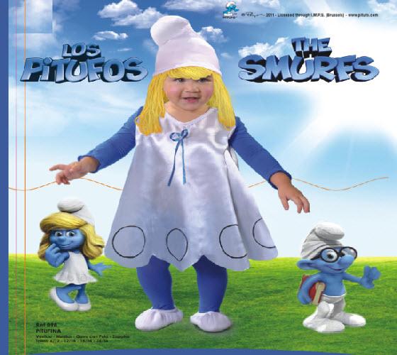 hermosos disfraces para bebes linea pitufos