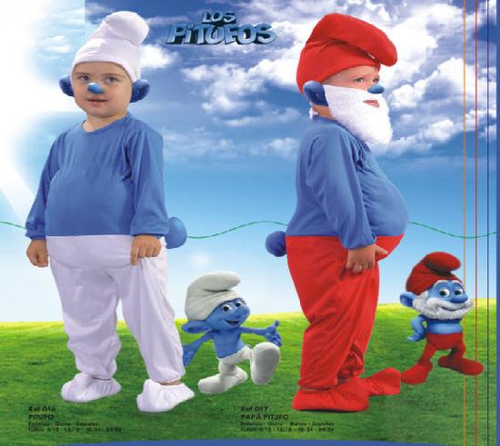 lindos disfraces de pitufo para bebe