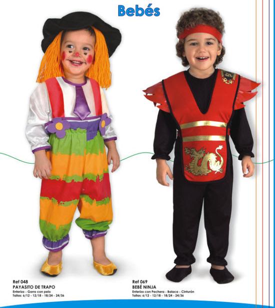tiernos disfraces para bebes payasito y bebe ninja