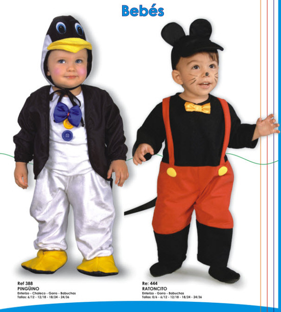 Disfraz de bebe pinguino y raton