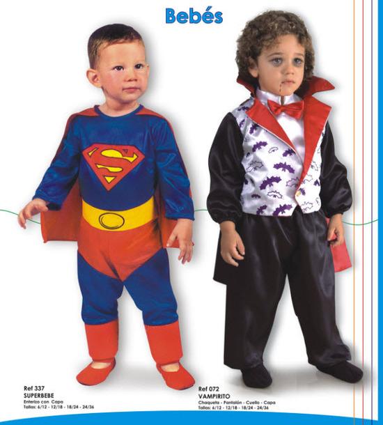 hermosos disfraces para bebes superman y vampiro