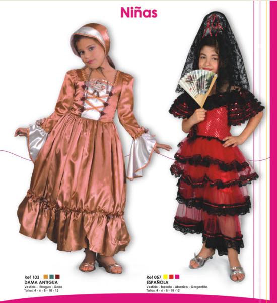 disfraces para niñas de dama