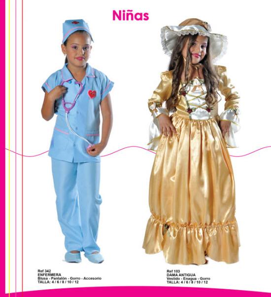 difraza a tu hija de enfermera o dama antigua