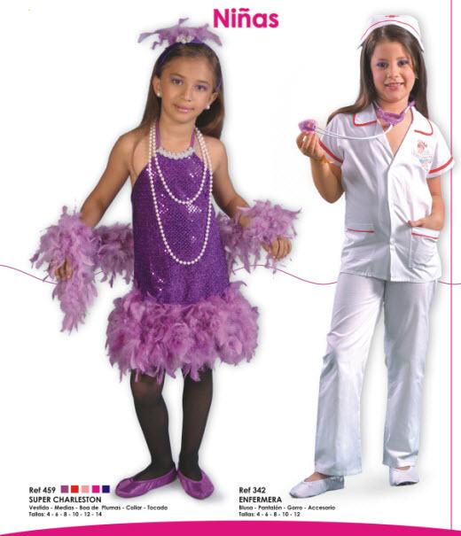 disfraza a tu hija de enfermerita o super charleston