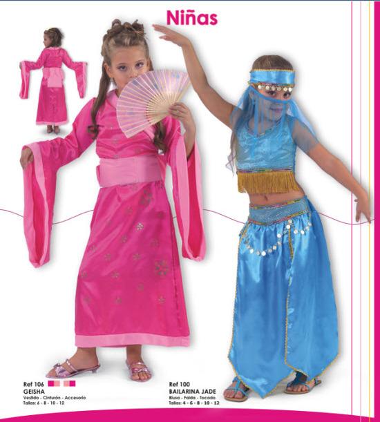 disfraces para niñas de geisha