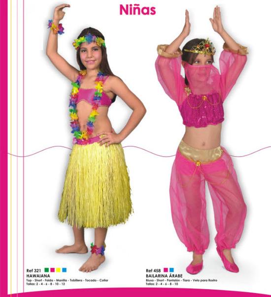 disfraces para niñas de hawaiana