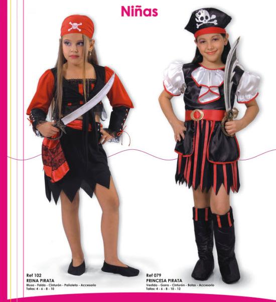 disfraces para niñas de piratas