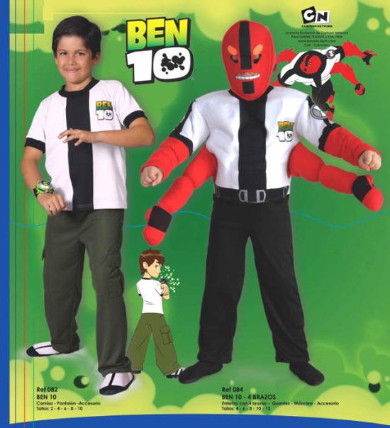 Disfraces para niños de ben 10
