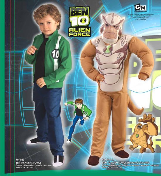disfraces para niños linea ben 10 -  alien force