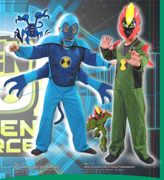 disfraces para niño de ben 10 y los aliens
